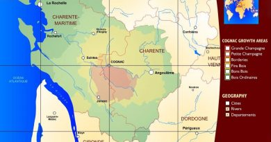 Puy-Leonard Cognac Area Map